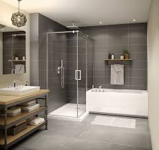 home design maax shower modulr bo angular configuration a perpendicular installation of and bathtub to create