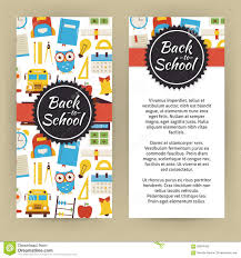 vector flyer template of flat design back to school and educatio vector flyer template of flat design back to school and educatio