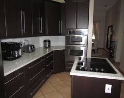 Modern Kitchen Cabinets Miami Refaced Modern Kitchen Cabinets In Expresso Thermofoil Yelp