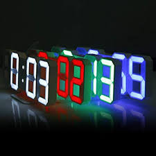 digital office wall clocks digital. 3D LED Digital Wall Clocks 24 / 12 Hours Display 3 Brightness Levels Dimmable Nightlight Snooze Office C