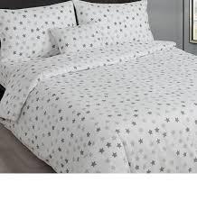 grey and white stars single bedding main image main image