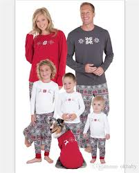 DESCRIPTION. Retail Family christmas pajamas sets Christmas Pajamas Sets Snowflake Printed