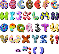 Letters In Design Cute Cartoon Design Series 04 Letters Vector Free Vector In
