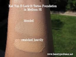 Kat Von D Lock It Foundation Light 46 Cool Beauty Professor Kat Von D Lock It Tattoo Foundation