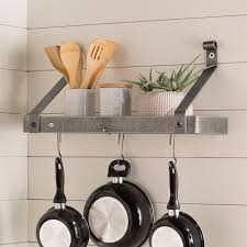 pot rack shelf. Plain Pot USA Handcrafted Gourmet Wall Mounted Pot Rack On Shelf A