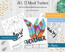 Bullet Journal Monthly Mood Tracker Printable Letter