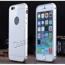 iphone 6 white and silver. aluminium metal bumper with tempered glass back cover hard case for iphone 6 plus 5.5 inch iphone white and silver