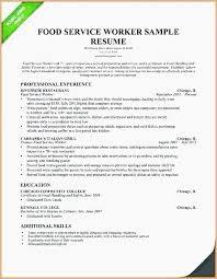 Fast Food Restaurant Resume Customer Service Resume Template