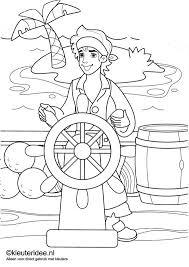 Kleuteridee Piratenkleurplaten