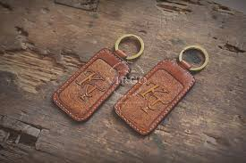 leather key chain from virgo handmade leather hanoi vietnam leather