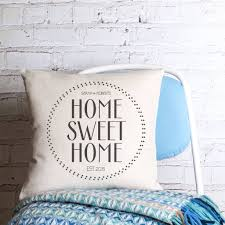 happy couple home sweet home personalised cushion cover