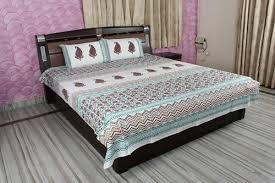 cotton bed sheets. Simple Bed Block Print Cotton Bed Sheet To Sheets S