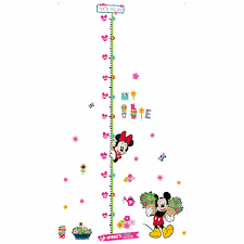 Wallpaper Measuring Chart 180cm Baby Height Measuring Stickers Cartoon Image Mickey