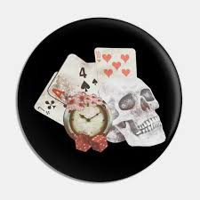 Check spelling or type a new query. Skull With Playing Cards Clock Skull Card Games Playing Cards Pin Teepublic