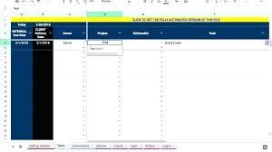 Powerpoint Project Management Templates Project Management Template Google Sheets Excel Design