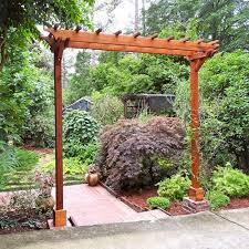 two post wood arbor forever redwood