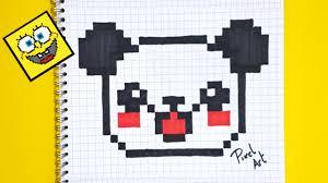 Pixel Art Comment Dessiner Un Panda Kawaii Youtube