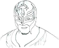 Rey Mysterio Sketch At Paintingvalleycom Explore Collection Of