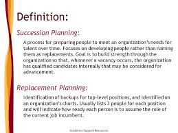 Succession Planning Sue Van Voorhis Director Academic