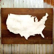 wooden united states wall art best of map reclaimed rustic decor us d