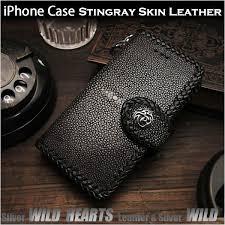 genuine stingray skin leather iphone 6 6s 7
