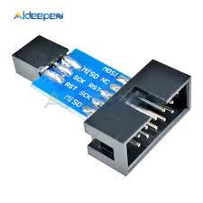 <b>5Pcs 10Pin to</b> 6Pin Converter Standard Adapter Board For ATMEL ...