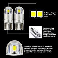 T10 W5w Car Led Bulb Safego 168 194 501 Wedge Led Bulbs