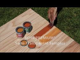 Behr Semi Transparent Wood Stain Color Chart 8 Oz Semi Transparent Stain Samples