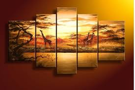 wall art ideas design five panels african wall art abstract large girls oil painting decorative prints canvas s african wall art