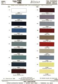1965 Pontiac Color Chart 1965 Chevelle Paint Codes