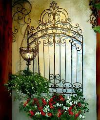 outdoor wall decor ideas awesome tuscan garden gate wall grille panel metal art grill