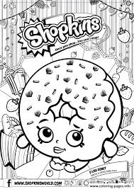 Shopkins D Lish Donut Coloring Pages Printable