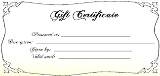 Blank Gift Certificates Editable Certificate Template Free Download