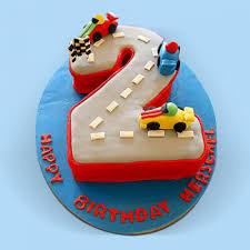 Car Race Birthday Cake Fast Track Cars Cake For Kidslet Them