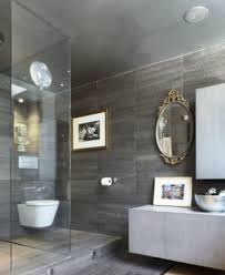 modern bathroom decorating ideas. Ornate Oval Mirror With Modern Lights For Contemporary Bathroom Decorating Ideas Grey Wall Color M