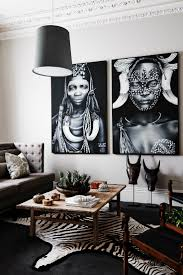 Furniture:12 Stylish Modern Home Decors with African Style Minimalist  African Living Room With Grey