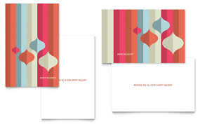 Modern Ornaments Greeting Card Template Design