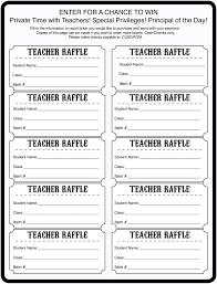 special time teacher raffle tickets