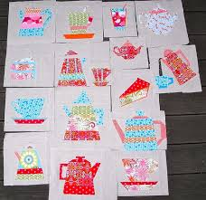 28 best Paper Pieced Quilt: Tea and Cookies images on Pinterest ... & All my blocks for the