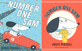 cover and le page for number one sam by greg pizzoli