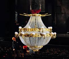 the phantom of the opera at shn up close with the chandelier