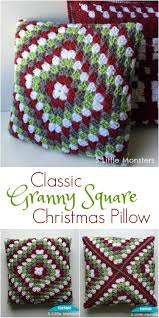 Classic Granny Square Pattern New 48 Little Monsters Classic Granny Square Christmas Pillow