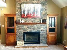 rock wall fireplace remove brick