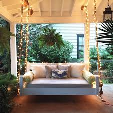 swing bed front porch christmas Holiday Pinterest