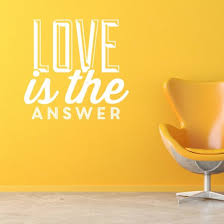Love Is The Answer Quote Fascinating Love Is The Answer Wall Sticker Quote Wall Chimp UK
