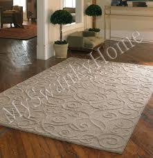 8 x 10 hand tufted beige tan embossed scroll wool area rug henderson beige area rug