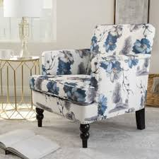 white sitting room furniture. Boaz Floral Fabric Club Chair By Christopher Knight Home White Sitting Room Furniture I
