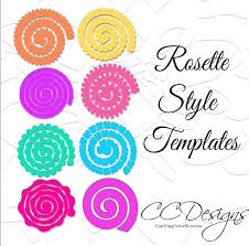 Small Paper Flower Templates Paper Flower Templates