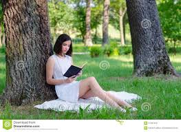 beautiful girl book. Simple Beautiful Beautiful Girl Sitting In Forest And Reading Book Summer For Girl Book U