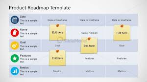 roadmap templates excel roadmap table design for powerpoint slidemodel